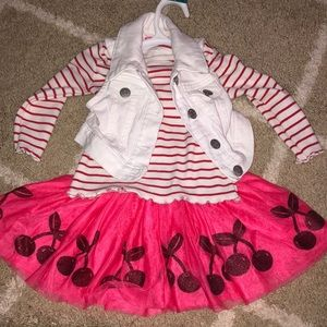 Gymboree cherry outfit.